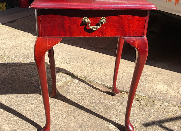 One Drawer Queen Anne Side Table