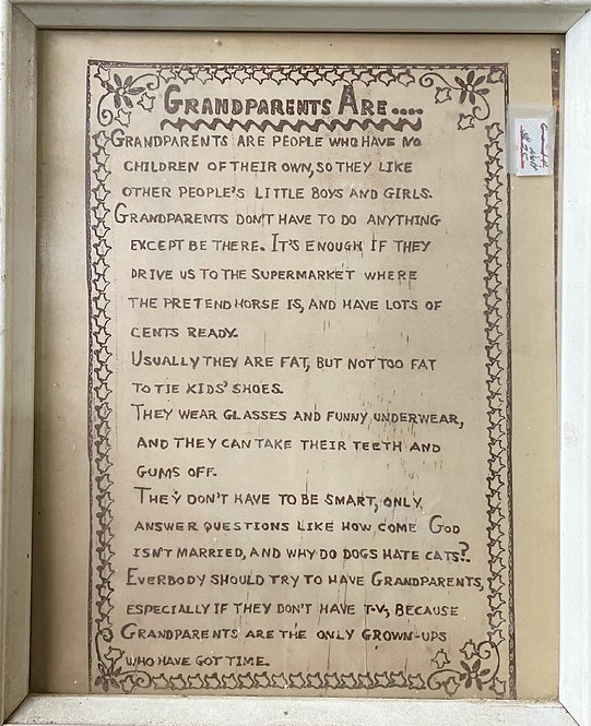 Beautiful Vintage Frame 'Grandparents Are…'
