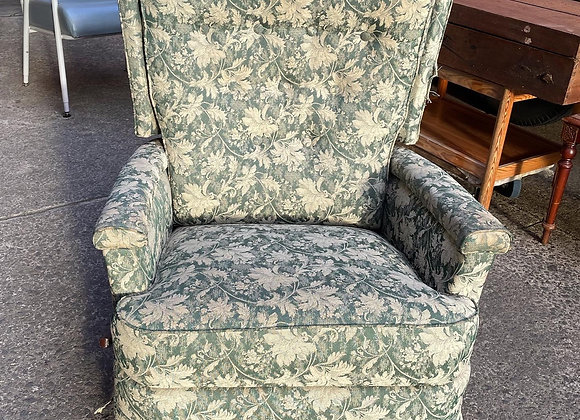A Stunning Pair of Vintage Floral Rocking Recliner Armchairs