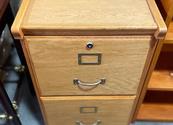 Vintage 2 Drawer Filing Cabinet in Very Good Condition