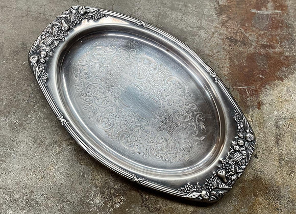 Astonishing Vintage Silverplated Tray manufactured by Visa Silverplate