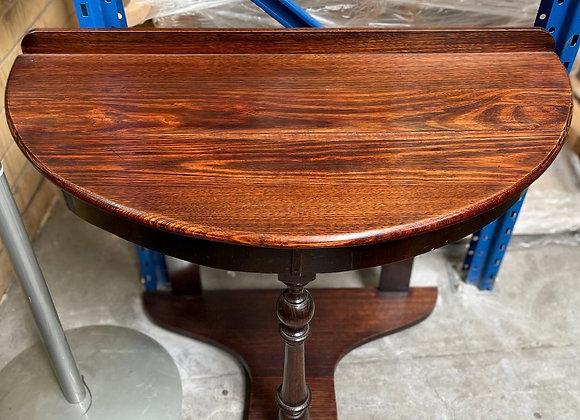 Astonishing Victorian Era Oak Half Round Hall Table