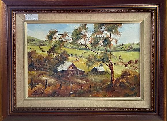 Vintage Scottish Landscape Artwork signed by Enuy