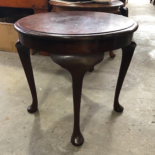 Small Queen Anne Round Coffee Table