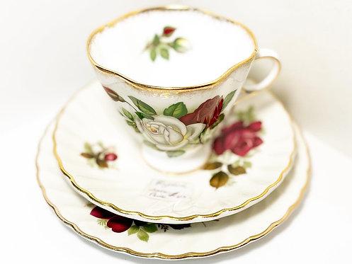 Luxurious Floral Set of 'Windsor' Teacup & 'James Kent Ltd Old Foley' Bone China