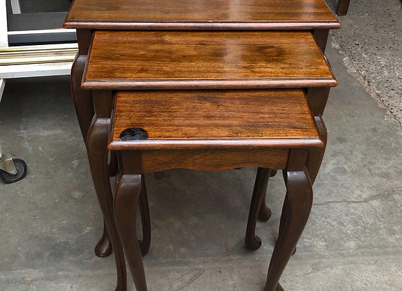 Mid-Century Queen Anne style Nest of Tables
