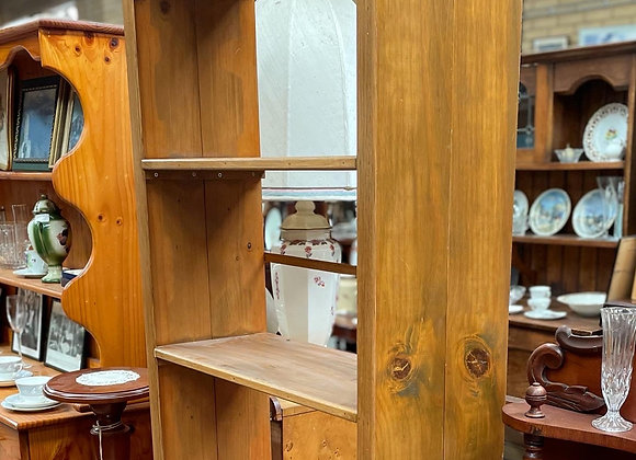 Large Beautiful 4-Tier Baltic Pine Bookshelf in Solid Condition