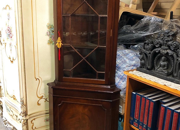 Antique Original Leadlight Corner Cabinet in a Really Good Condition