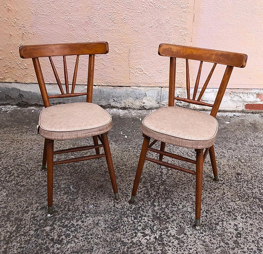 A Pair of Stunning Upholstered Retro Chairs