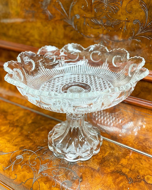 Gorgeous Vintage High-Quality Cut Crystal Centre Piece/Pedestal Dish from C.1980