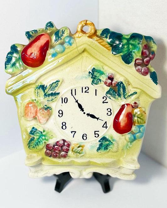 Rare Hand-Painted Underglaze Porcelain Clock Figurine by Festivine (Japan)