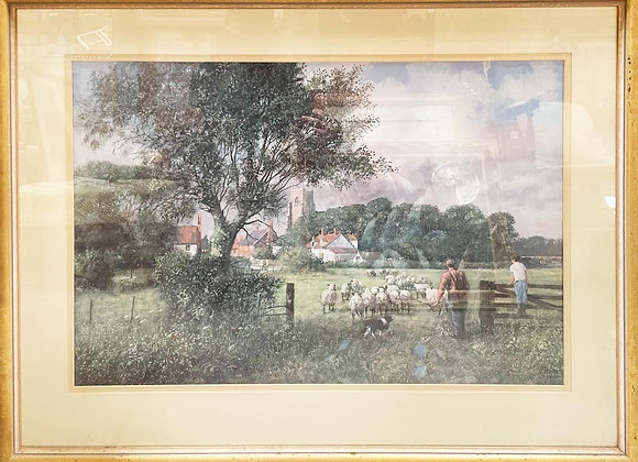 Gorgeous English Countryside Print of Clive Madgwick's 'Into New Pastures'