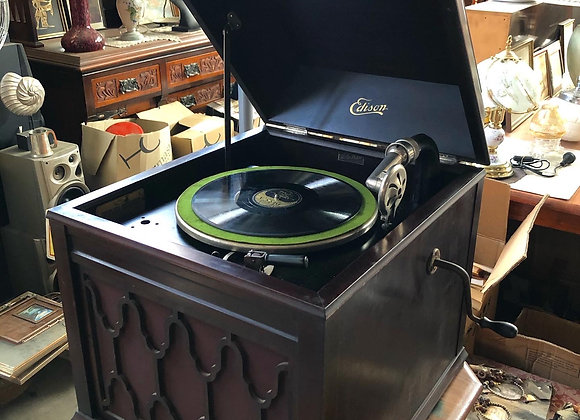 """Antique Edison Disc Phonograph """"London"""" L35 Model from C. 1925 (USA)"""