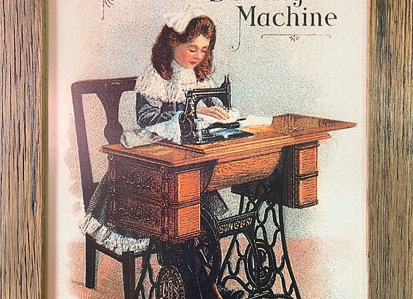 Original Singer Sewing Machine Print