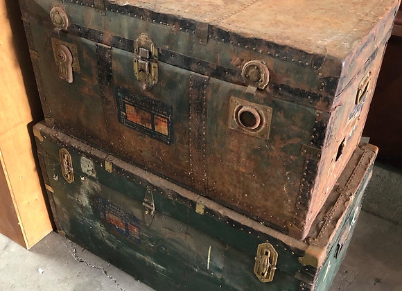 A Couple of Antique Trunks
