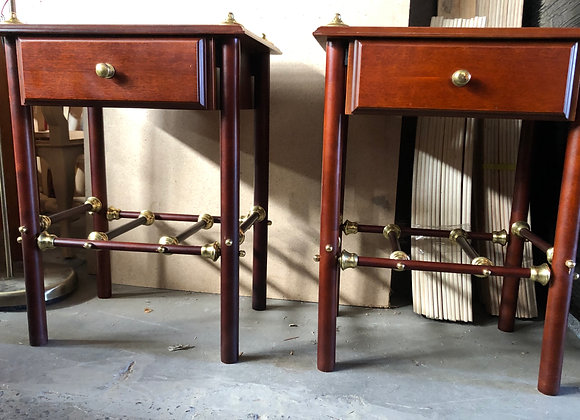 A Pair of Vintage Queensland Maple Bedside Tables