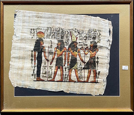 Unique Egyptian Handmade Painting on Papyrus by Unknown Artist