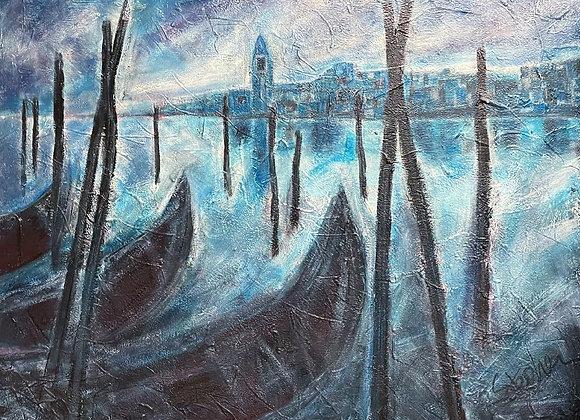 Original Landscape Oil on Canvas signed by Stephen