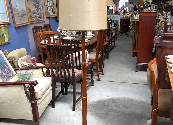 Vintage Standing Lamp with Beige Shade