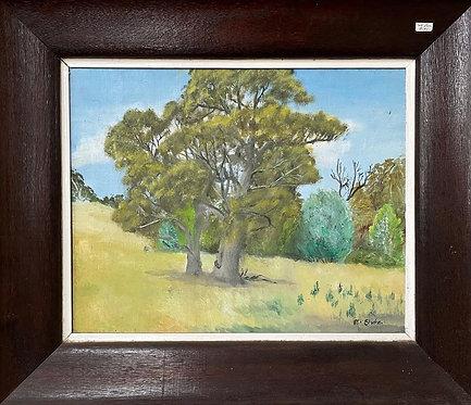 Vintage Framed Oil on Canvas Impressionist Artwork signed by M. Stute