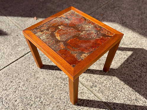 Australian Made Square Mid-Century Coffee Table with Unique Top (WA)