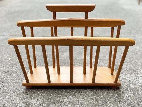 Wooden Retro Mid-Century Magazine Rack