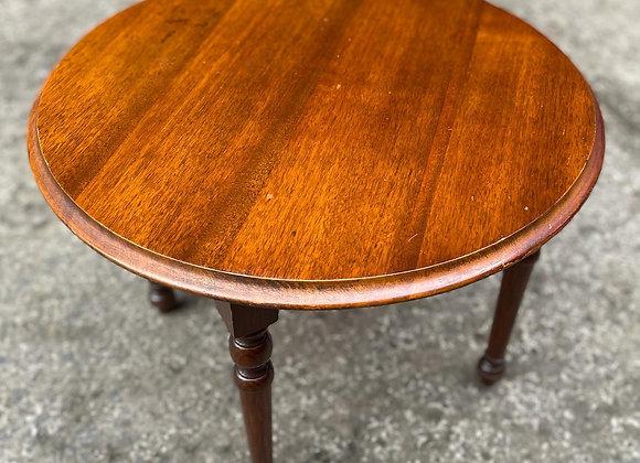 Antique Round Oak Coffee Table on Four Legs