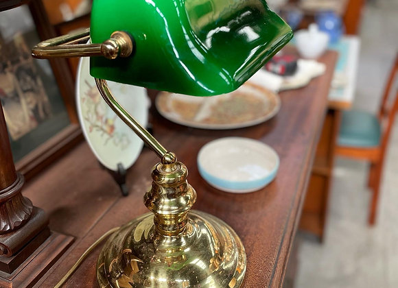 Beautiful Original Vintage 3-Level Touch Green Shade Desk Lamp