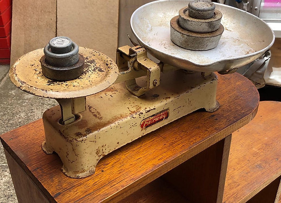 Vintage Cast Iron Domestic Scales with Original Weights by Fairway