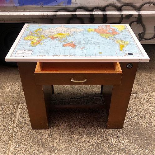 Australian Made Retro World Map Writing Desk