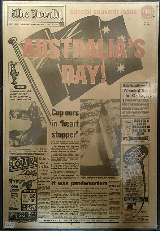 Vintage Print of The Herald Special Souvenir Issue Newspaper
