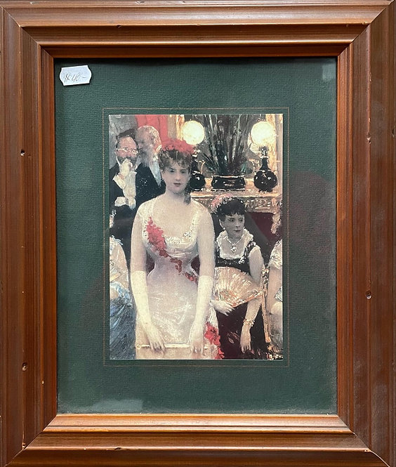 Glamorous Vintage Framed Print of C.1930's Cocktail Party