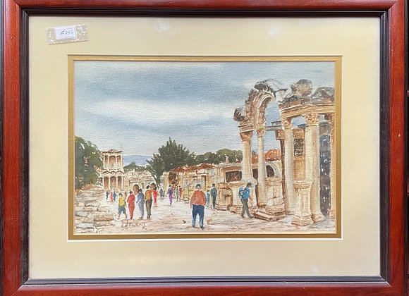 Stunning Original Vintage Watercolour Artwork signed by E.Hawkins