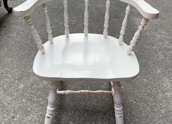 Good Quality White Antique Captain's Chair in Very Good Condition