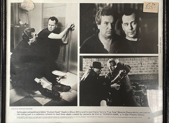B&W Print of Bruce Willis and Danny Aiello Photographs by Stephen Vaughan