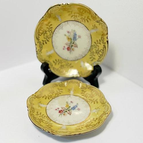 Set of 2 Vintage Zeh Scherzer Bavaria Porcelain Saucers from C.1960's (Germany)