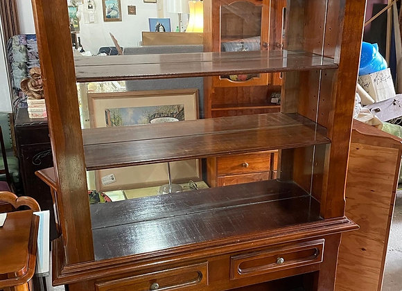 Solid Italian Oak Bookcase in Very Good Condition
