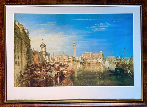 A Print of 'Bridge of Sights, Ducal Palace and Custom House, Venice: Canaletti'