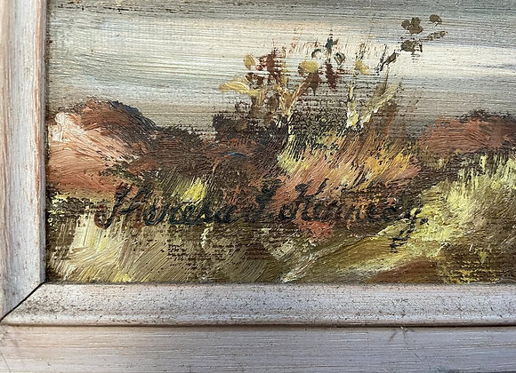 Original Oil Painting on Canvas Signed by Theresa F. Kennedy (Australia)