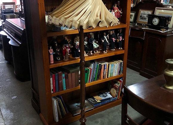 Impressive Vintage Wooden Standing Lamp