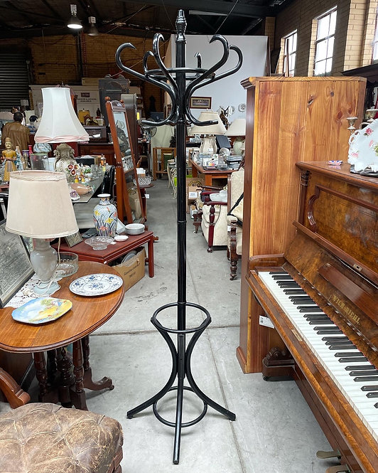 Good Quality Wooden Bentwood Hatstand with Umbrella Compartment painted Black