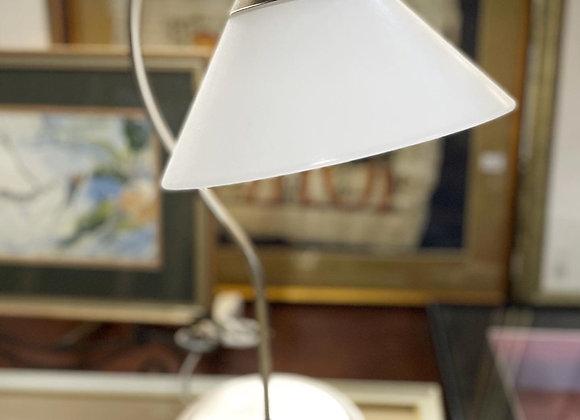 Modern Metal Base Glass Shade Table Lamp