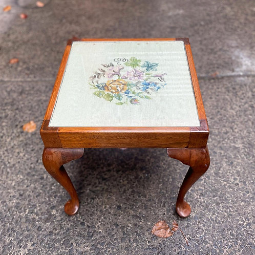 Unique Square Queen Anne Table on Cabriole Legs with Hand-Crafted Top