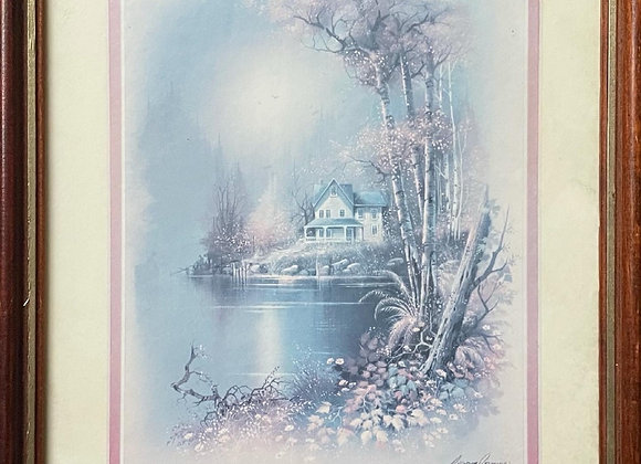 Beautiful Picturesque Print with Original Artists Signature