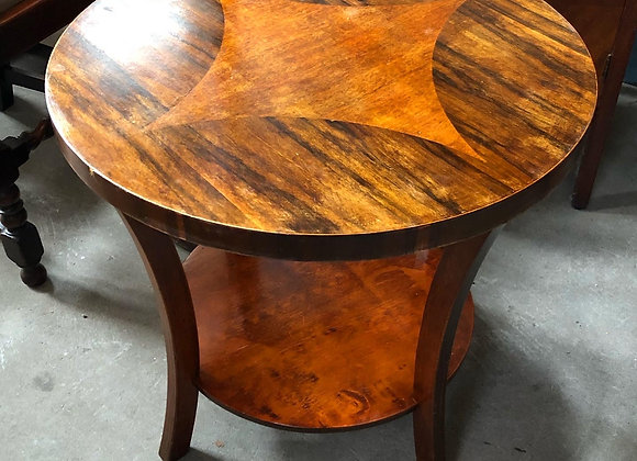 Round Veneered Occasional Table with Inlay
