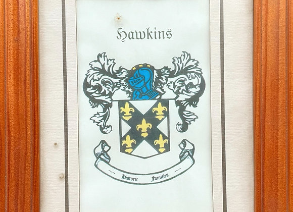 Print of Hawkins Coat of Arms / Hawkins Family Crest (UK)