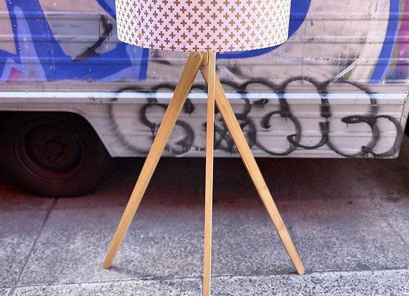 Scandinavian Style Retro Tripod Floor Lamp with Modern Shade