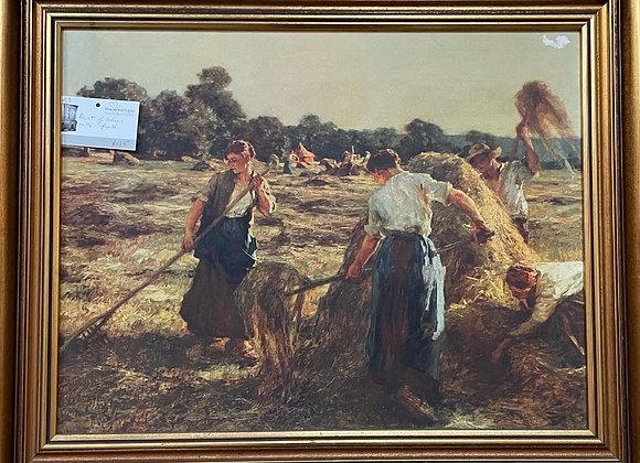 Beautiful Pastoral Scene Print of the Working Women Artwork