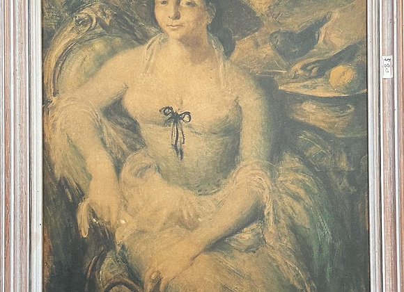 A Print of William Dobell's 1948 Portrait of Margaret Olley