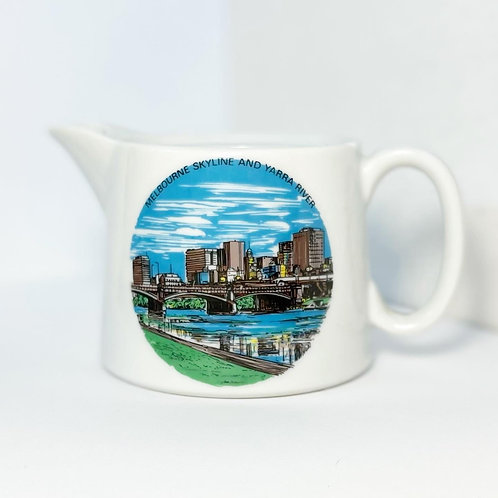 Collectible Fine China Melbourne Skyline and Yarra River Creamer by Westminster